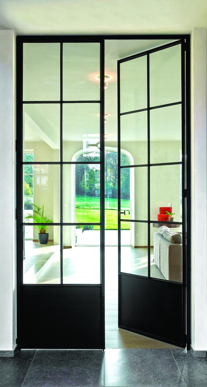 Smeedijzeren deuren dirk neefs glass design - Faience giet keuken moderne ...